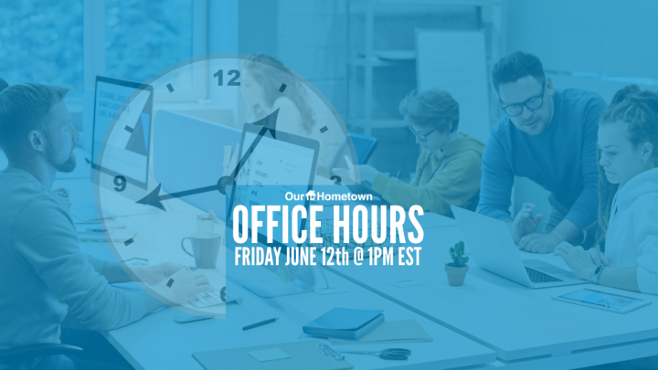Join us for Office Hours this Friday at 1PM!